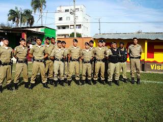 A Segurança esteve a cargo da Polícia Militar de MG