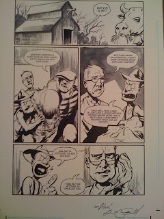 The Goon original art page