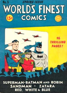 World's Finest Comics #5 patriotic cover