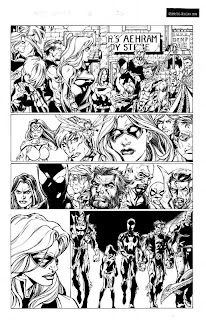 Mighty Avengers original art