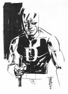 Maleev sketch of Daredevil Yellow