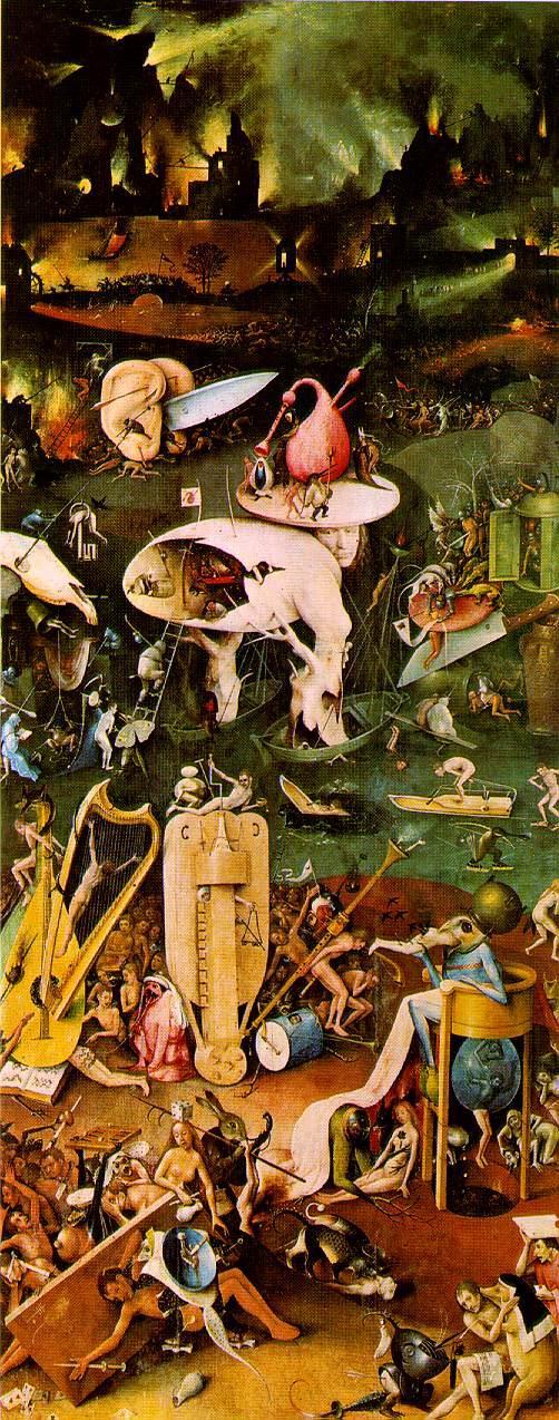 Viver com poesias jardim das del cias inferno de bosch - Jardin infierno ...