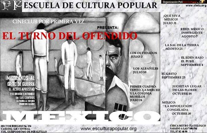 CINE DE SALVADOR DÍAZ EN ESCUELA DE CULTURA POPULAR EN MÉXICO D.F.