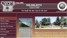 Award Winner: Local fence Webpage: Champi Fence of Central California.
