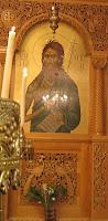 icone de saint Jean le Baptiste, iconostase de la paroisse Hagia Barbara, Eglise Orthodoxe, Chatelineau, Belgique