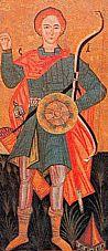 saint Dimitri de Thessalonique, icône russe du 16ème siècle