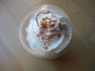 Starbucks Iced Pumpkin Spice Latte top view