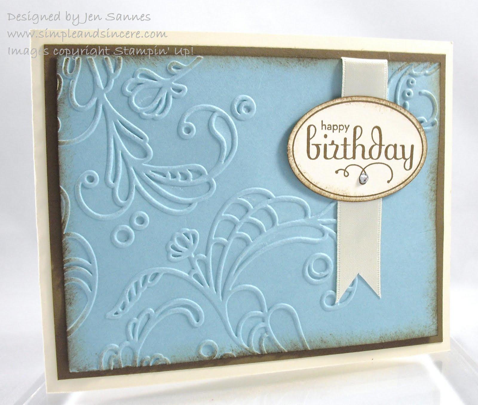 Simple & Sincere: Elegant Lines Birthday