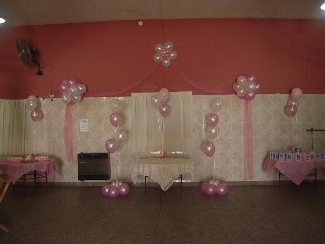 Decoracion con globos eventos decoracion con globos - Decoracion para bautizo de nina ...