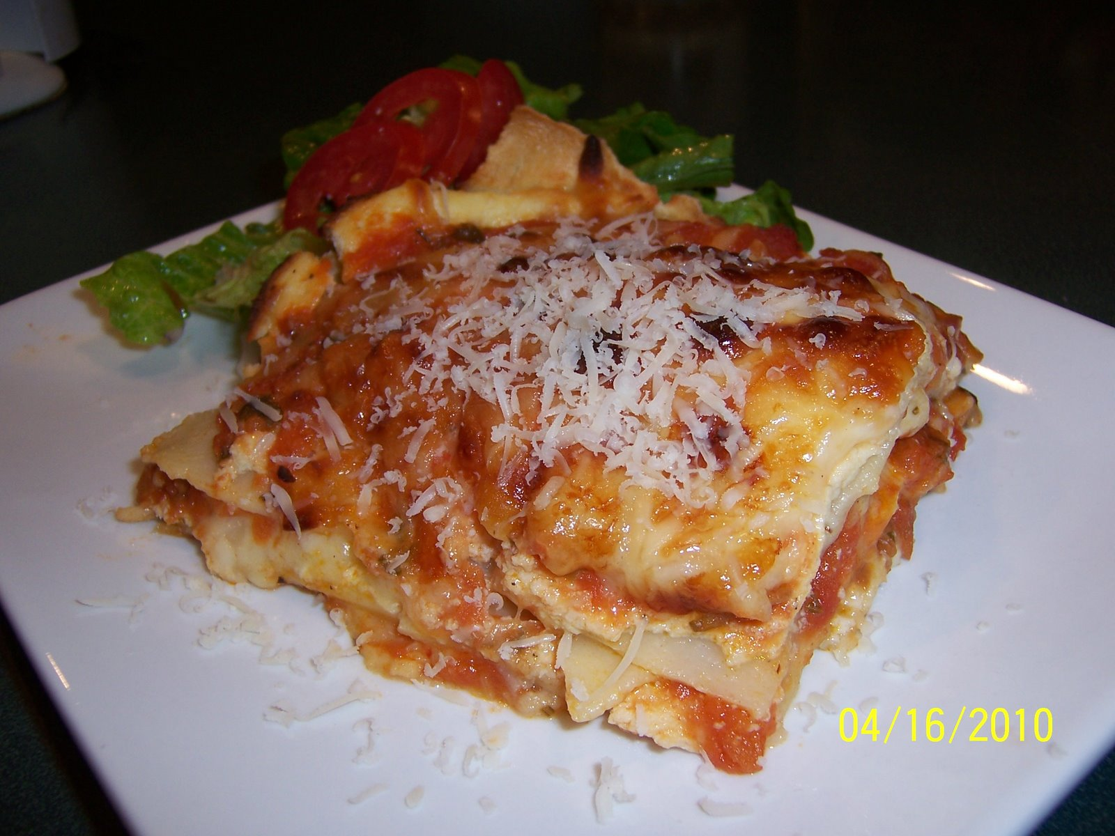 The Culinary Enthusiast: Four Cheese Lasagna