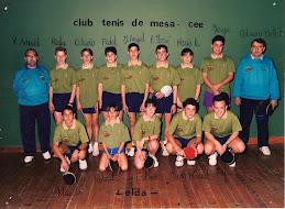 CLUB TENIS MESA ELDA. CENTRO EXCURSIONISTA ELDENSE. AÑO 1992