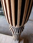 Antic Teak Column.
