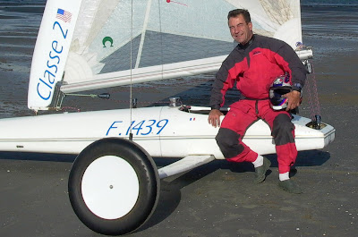Pierre-Yves Gires pilote char à voile Club Les Albatros Dunkerque