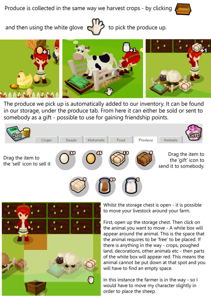 FB Game Guide: Country Story - Livestock Guide Raising and Caring for