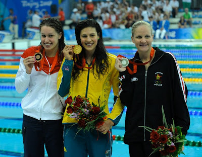 Beijing 2008 - Stephanie Rice, Kirsty Coventry y Katie Hoff