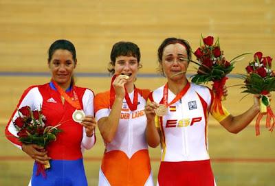 Beijing 2008 - Marianne Vos, Yoanka González y Leire Olaberría