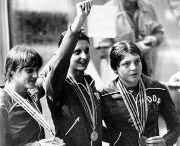 Caren Metschuk, Barbara Krause e Ines Diers, Moscú 1980