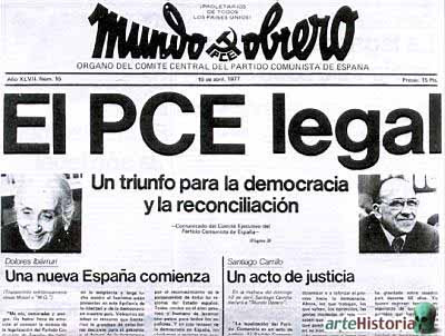 Mundo Obrero - Legalización del PCE