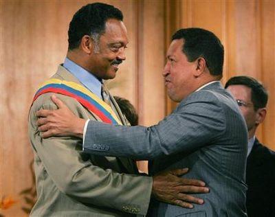 Hugo Chávez y Jesse Jackson