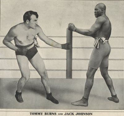 Tommy Burns y Jack Johnson (1908)