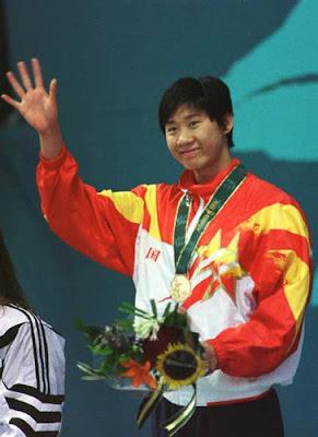 Atlanta 1996 - Le Jingyi, campeona en los 100 metros libres