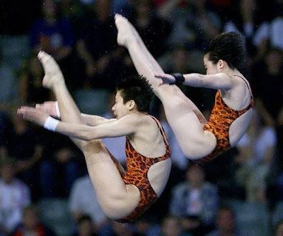 Sydney 2000 - Li Na y Sang Xue, campeonas en saltos de plataforma sincronizados