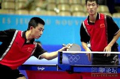 Sydney 2000 - Wang Liqin y Sen Yan, campeones de dobles en tenis de mesa