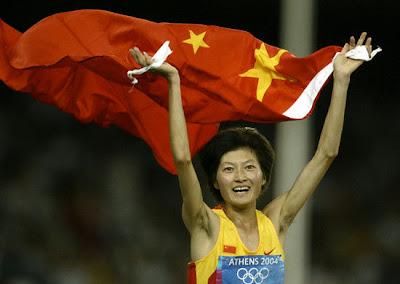 Atenas 2004 - Xing Huina, medalla de oro en los 10.000 metros
