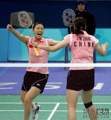 Atenas 2004 - Zhang Jiewen y Yang Wei, campeonas en dobles de badminton