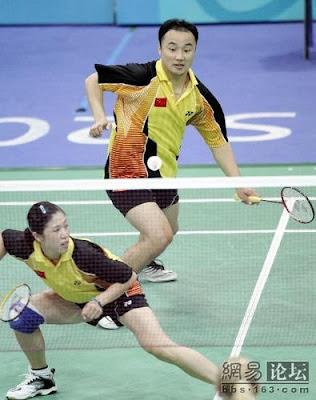 Atenas 2004 - Zhang Jun y Gao Ling, oro en dobles mixtos de badminton