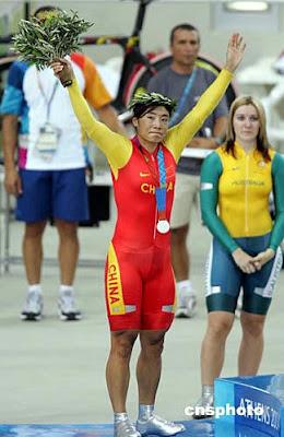 Atenas 2004 - Jiang Yonghua, medalla de plata en 500 metros contrarreloj