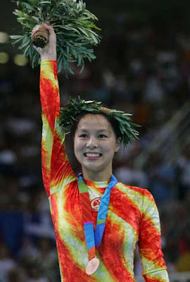 Atenas 2004 - Huang Shanshan, medalla de bronce en Trampolín