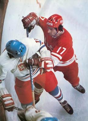 Valeri Kharlamov con la selección de la URSS