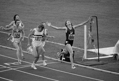 Final de 1.500 metros en Montreal '76, con triunfo de John Walker y plata para Van Damme