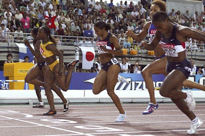 Osaka 2007 - Veronica Campbell y Lauryn Williams