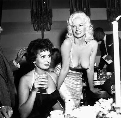 Jayne Mansfield y Sophia Loren