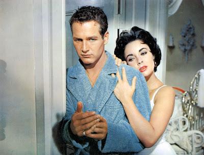 Paul Newman y Elizabeth Taylor en La gata sobre el tejado de zinc (1958)