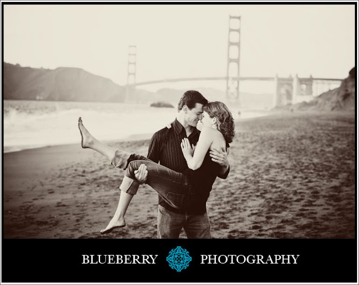 Wedding engagement session baker beach
