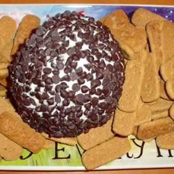 Chocolate Chip Cream Cheese Ball Dip