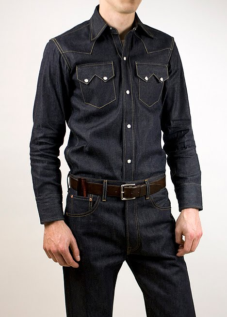Blackbird blog sawtooth for Levis vintage denim shirt 1950 sawtooth slim fit