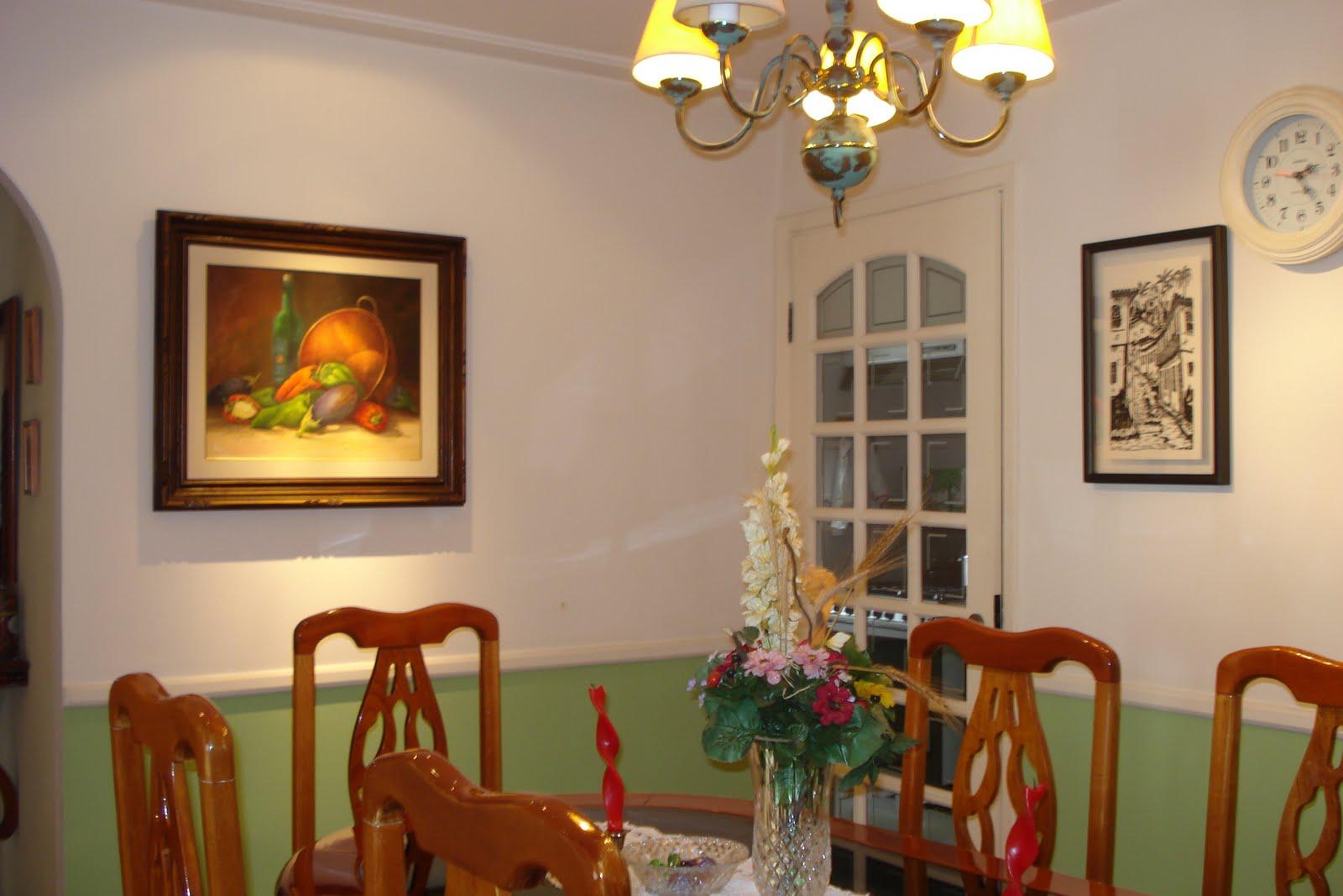 #B99A12 Outra visão da SALA DE JANTAR: porta de madeira pintada na côr  1600x1067 píxeis em Decoração De Sala De Jantar Com Gesso