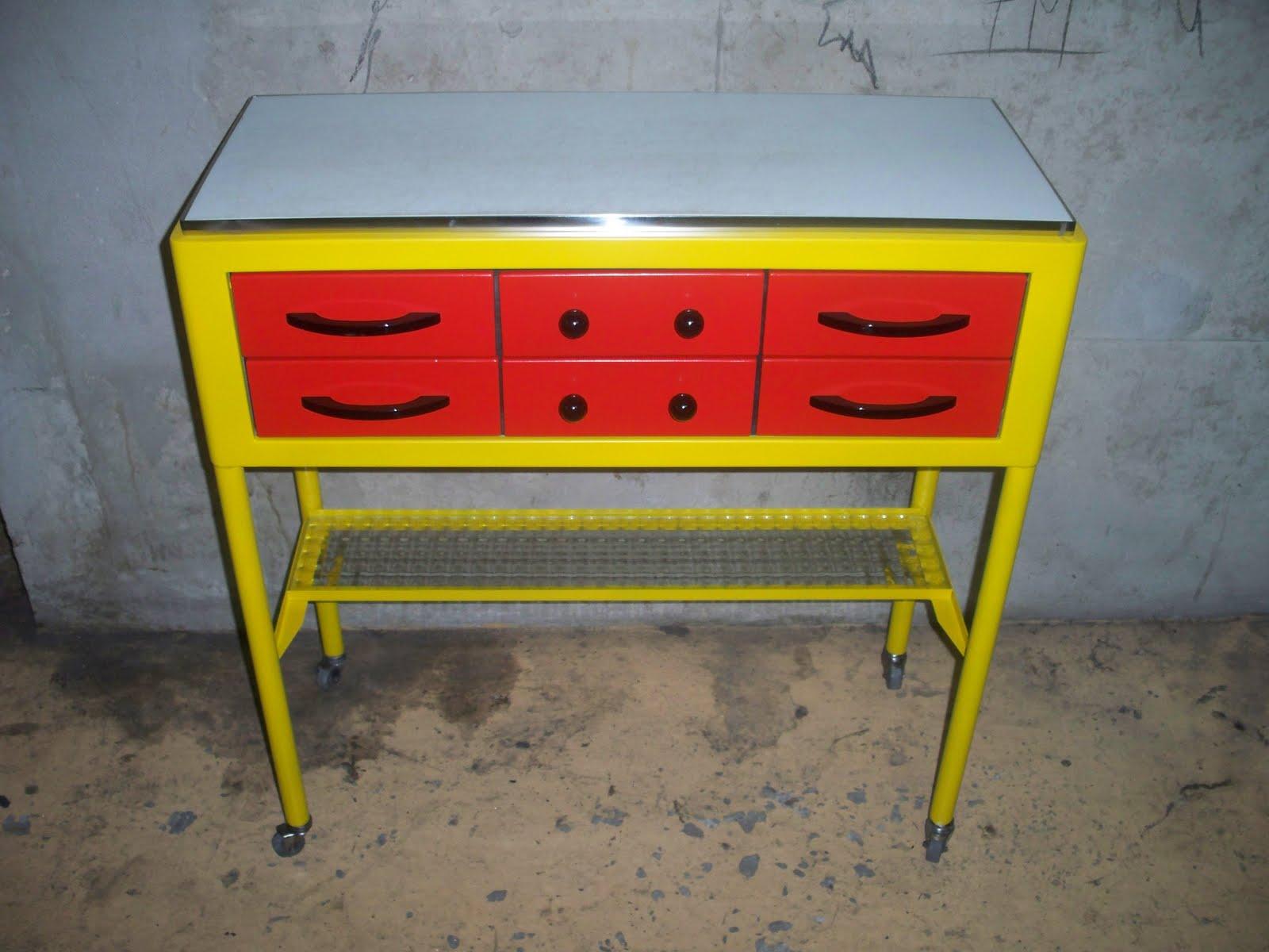 Cr ation d coration mobilier art meuble de dentiste en - Meuble des annees 50 ...