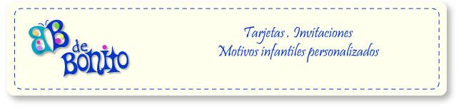 B de Bonito - Tarjetas infantiles, invitaciones gratis para imprimir