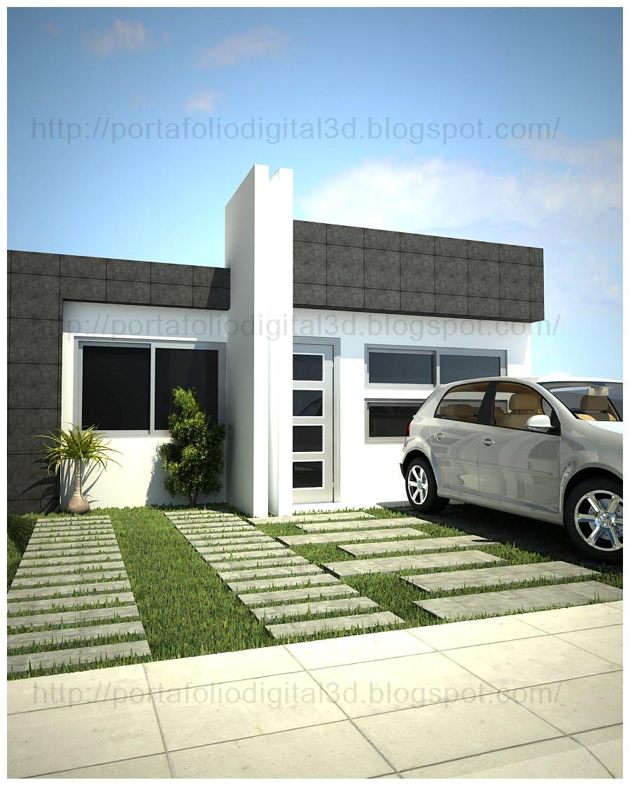 Proyectos arquitectonicos y dise o 3 d casa habitacion - Casas de diseno minimalista ...