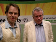 Martin Bell and RR at Green Party Conference