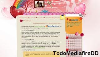 Plantilla para Blogger: Love Cup