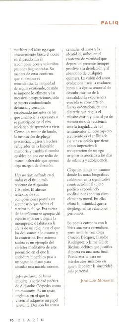 Reseña: Revista Clarín, por José Luis Morante