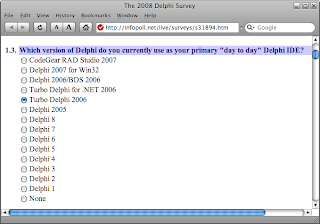 The 2008 Delphi survey