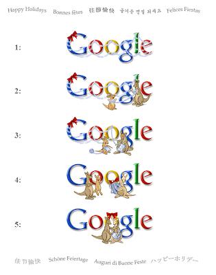 Vánoční loga Google 2006