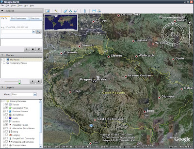 Google Earth 4 - Česká republika